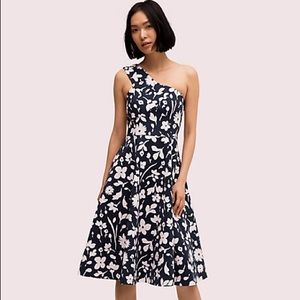 Kate Spade Splash one-shoulder floral mini dress
